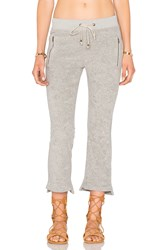 Ragdoll Vintage Terry Cropped Flare Track Pant Gray