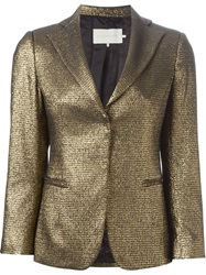 L'autre Chose Front Pocket Blazer Metallic