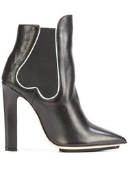 Racine Carree Pointed Toe Ankle Boots Black
