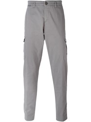 Eleventy Tapered Cargo Trousers Grey