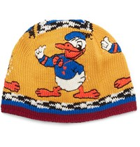 Gucci Disney Intarsia Cotton Beanie Yellow