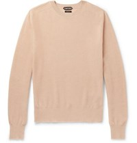 Tom Ford Waffle Knit Cashmere Sweater Neutral