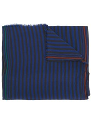 Paul Smith Ps By Striped Scarf Black