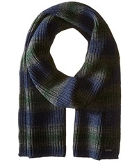 Michael Michael Kors Marl Stripe Muffler Midnight Charcoal Pine Scarves Multi
