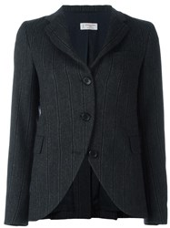 Alberto Biani Double Striped Fitted Jacket Grey