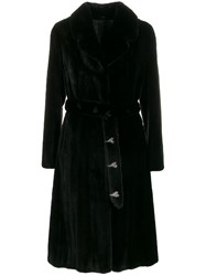 Liska Spread Collar Coat Black