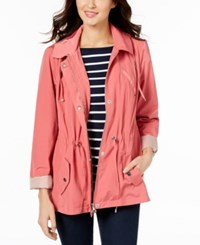 Charter Club Petite Anorak Rain Jacket Created For Macy's Cream Blush