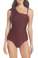 Chelsea 28 Chelsea28 Showstopper One Piece Swimsuit Burgundy Fig