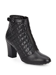 Aquatalia By Marvin K Harriet Quilted Leather Booties Black
