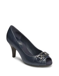 Aerosoles Good Lux Open Toe Pumps Navy