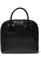 Burberry Glossed Textured Leather Tote Black