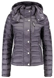 Superdry Luxe Fuji Winter Jacket Charcoal Pearl Blue