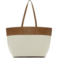 A.P.C. Brown And Off White Totally Tote