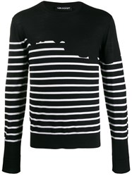 Neil Barrett Striped Regular Fir Jumper 60