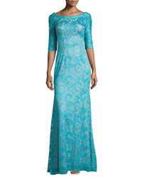 Jovani Half Sleeve Lace Gown