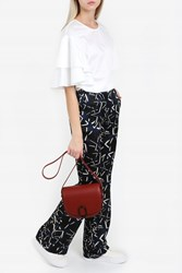 Paul And Joe Star Print Silk Trousers Blue