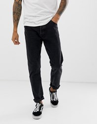Bershka Slim Fit Jeans In Washed Black Black