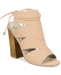 Call It Spring Asadolla Block Heel Sandals Women's Shoes Nude