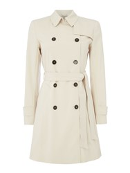 Marella Maine Double Breasted Trench White