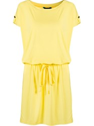 Lygia And Nanny Drawstring Beach Dress Yellow And Orange