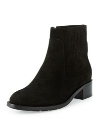 Aquatalia By Marvin K Oribella Gored Suede Ankle Boot Black