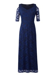 Grace Made In Britain Lace Maxi Navy