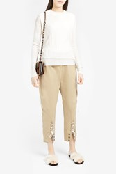 Monse Women S Lace Up Cuff Jodhpurs Boutique1 Beige