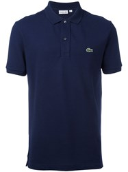 Lacoste Logo Patch Polo Shirt Blue