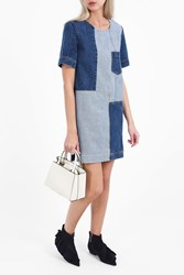 Paul Joe Women S Belville Denim Patchwork Dress Boutique1 Blue