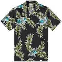 Bedwin And The Heartbreakers Rogers Open Collar Aloha Shirt Black