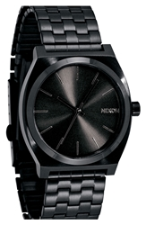Nixon 'The Time Teller' Stainless Steel Bracelet Watch 37Mm Black Black