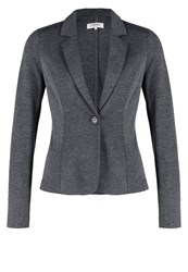 Zalando Essentials Blazer Dark Grey Melange Mottled Dark Grey