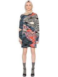 Missoni Patchwork Effect Wool Slub Sweater Dress