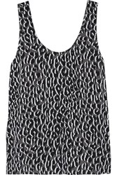 Equipment Kaylen Leopard Print Washed Silk Tank Leopard Print