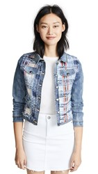 Ramy Brook Gloria Jacket Indigo Combo