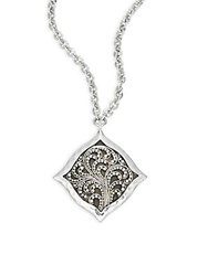 Lois Hill Signature Cutout Pendant Necklace Silver