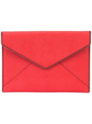 Rebecca Minkoff Chain Trim Envelope Clutch Women Leather One Size Red