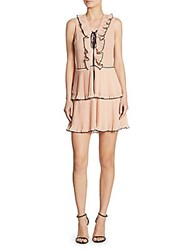 Delfi Collective Kiki Pleated Lace Up Dress Blush