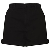Whistles High Waist Turn Up Shorts Black