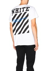 Off White Blue Collar Tee In White