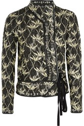 Isabel Marant Orval Printed Quilted Silk Shantung Jacket