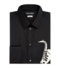 Dolce And Gabbana Saxophone Embroidered Shirt Male G5dy4zge7801 N0000 Black