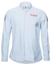 Gaastra Waterwash Shirt Blue Lavender Light Blue