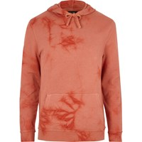 River Island Orange Splashed Tie Dye Hoodie