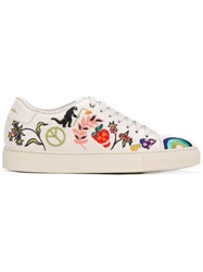 Paul Smith Embroidered Motif Basso Sneakers Women Calf Leather Leather Rubber 40 White
