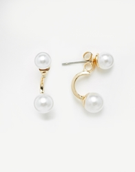 Designsix Through And Through Pearl Stud Earrings