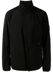 Stone Island Zip Up Jacket Black