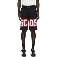 Gcds Black Band Logo Bermuda Shorts