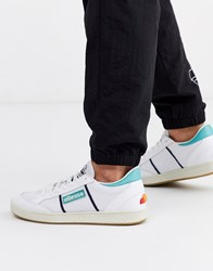 Ellesse Ls 80 Leather Trainer In Blue White