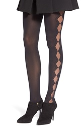 Emilio Cavallini Hosiery Emilio Cavallini Sheer Diamond Back Tights Black